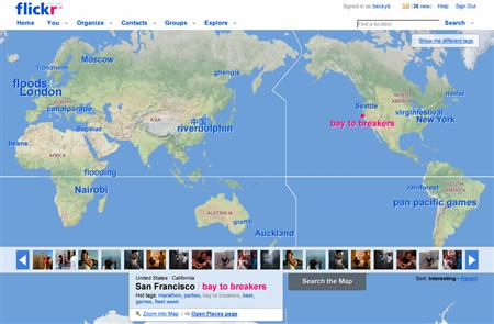 flickr geo mapping