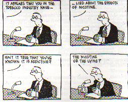 Addiction Marketing Cartoon