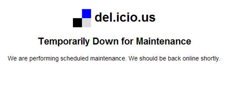 Delicious Down for Maintenance Screen