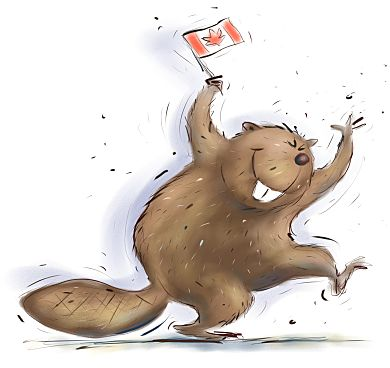 Happy Canadian Beaver