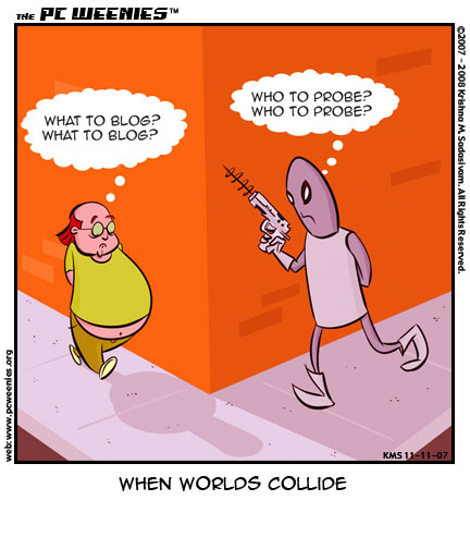 Friday Funnies: when worlds collide
