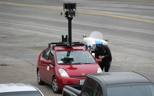 police tickets google street view car
