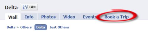 Delta Airlines Facebook App