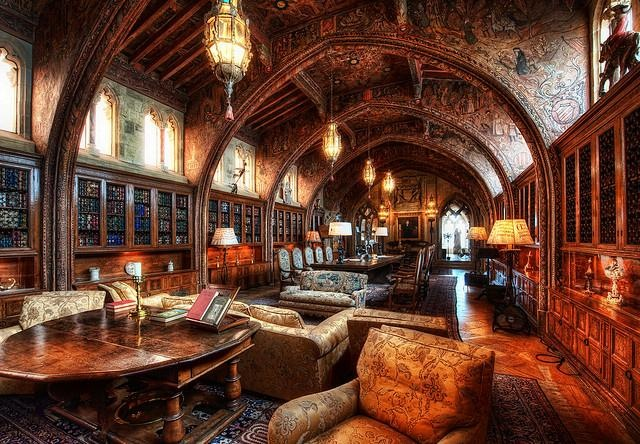 Gothic Study - The Private Library of William Randolph Hearst