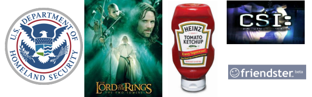 2002: Homeland Security, Lord of the Rings, Heinz, CSI, Friendster