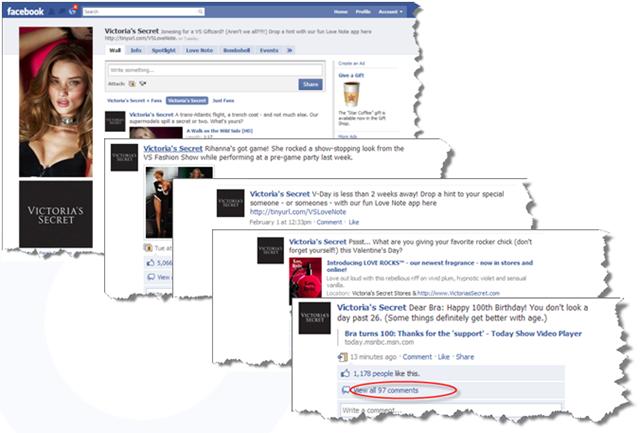 Victorias Secret Facebook Posts Examples