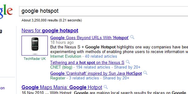 google hotspot typo search