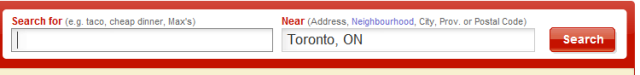 Yelp Canada search box