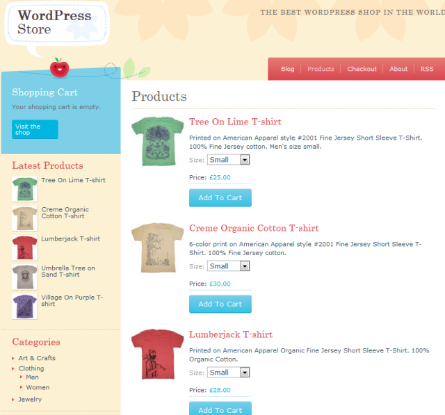 wordpress crafty cart