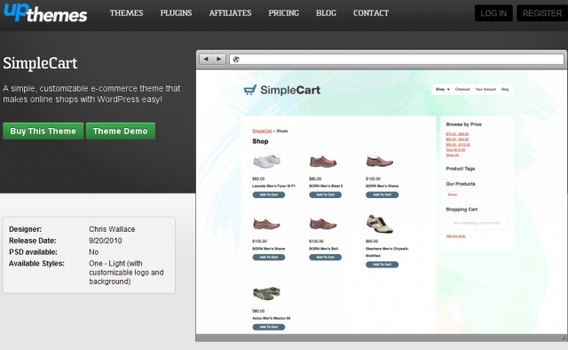 wordpress simplecart