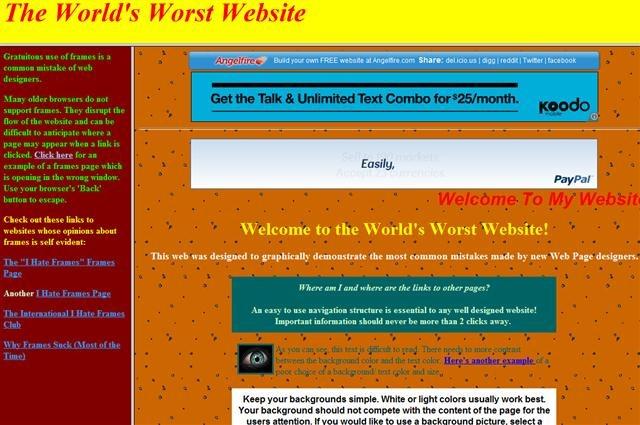 worst-website