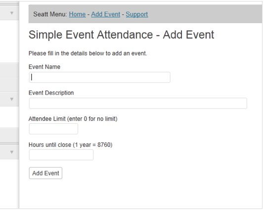 Simple Event Attendance (SEATT) | WordPress Plugins