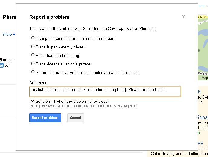 Google Places Duplicate Solution