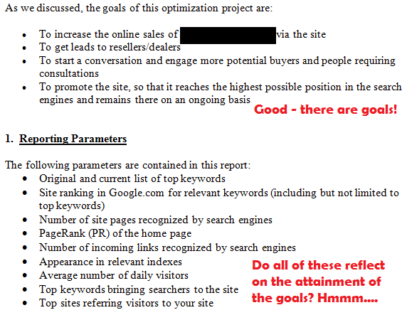 second seo client status report
