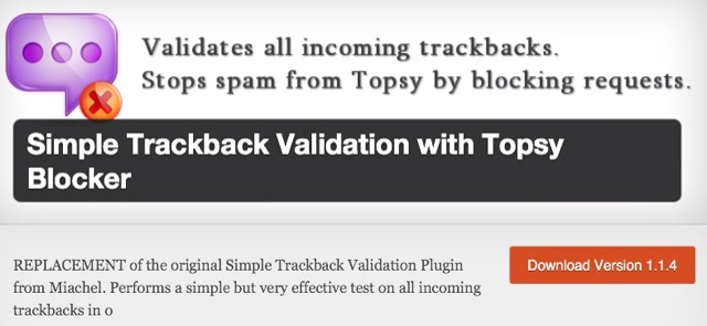 simple Trackback Validation Plugin For WordPress