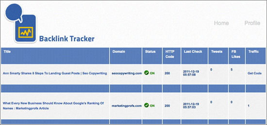 Backlink Tracker