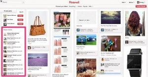 Activity Feed for Pinterest