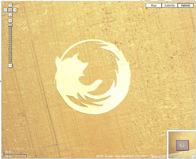 2. Firefox Crop Circle on Google Maps