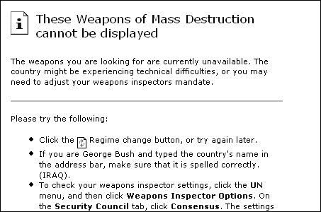 8. Weapons of Mass Destruction Google Bomb