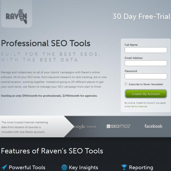 Raven SEO Tools