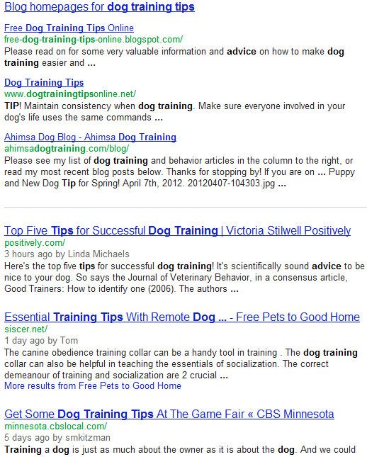 blogs and blog posts for dog training tips