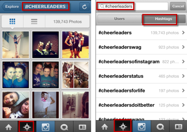 Search for people on instagram