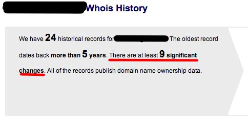An account with DomainTools.com allows you to explore all of the historical records and changes.