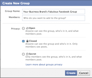 Facebook Groups Settings Panel
