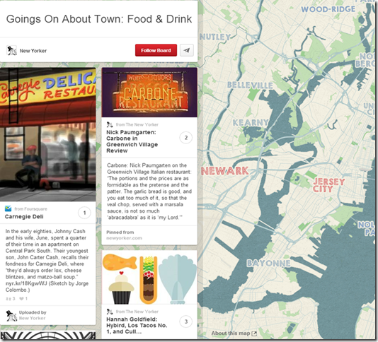 Pinterest Place Pins: Restaurant Example