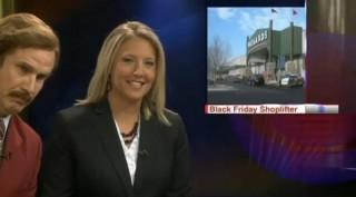 Ron Burgundy co-anchors news