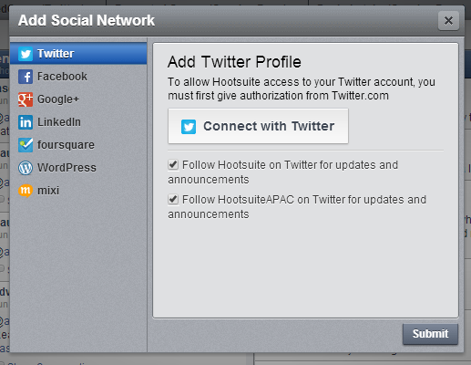 Supported Social Networks