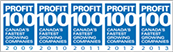 profit magazine 100 badge