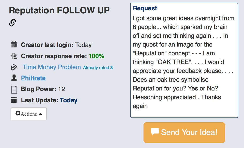MyBlogU feedback request