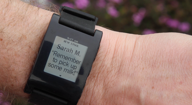 Smart watch with email notification