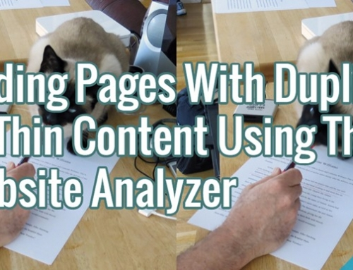 Finding Pages With Duplicate Or Thin Content Using A1 Website Analyzer
