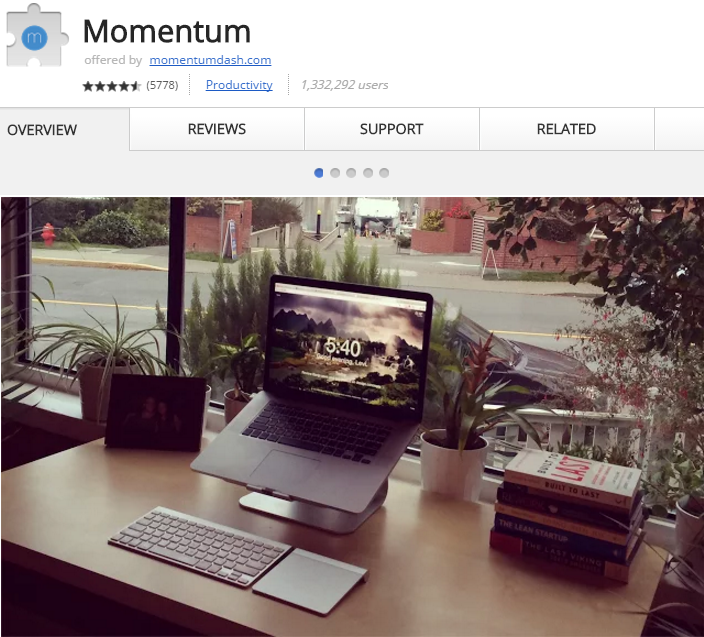 Momentum Chrome Extension