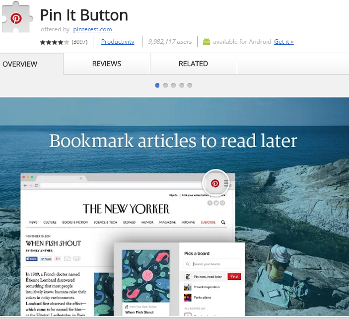 Pinterest Chrome Extension