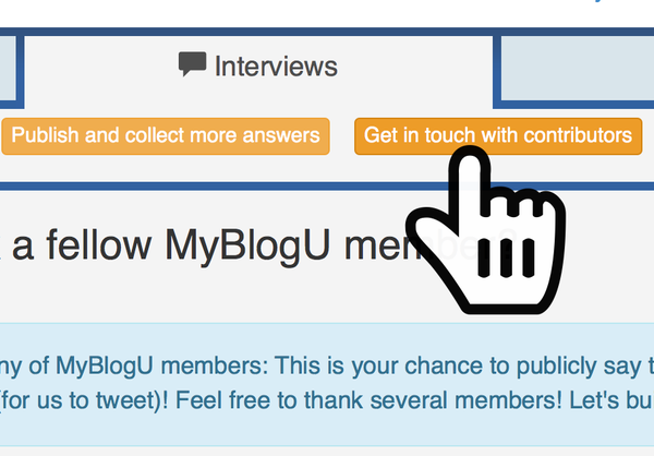 MyblogU interviews