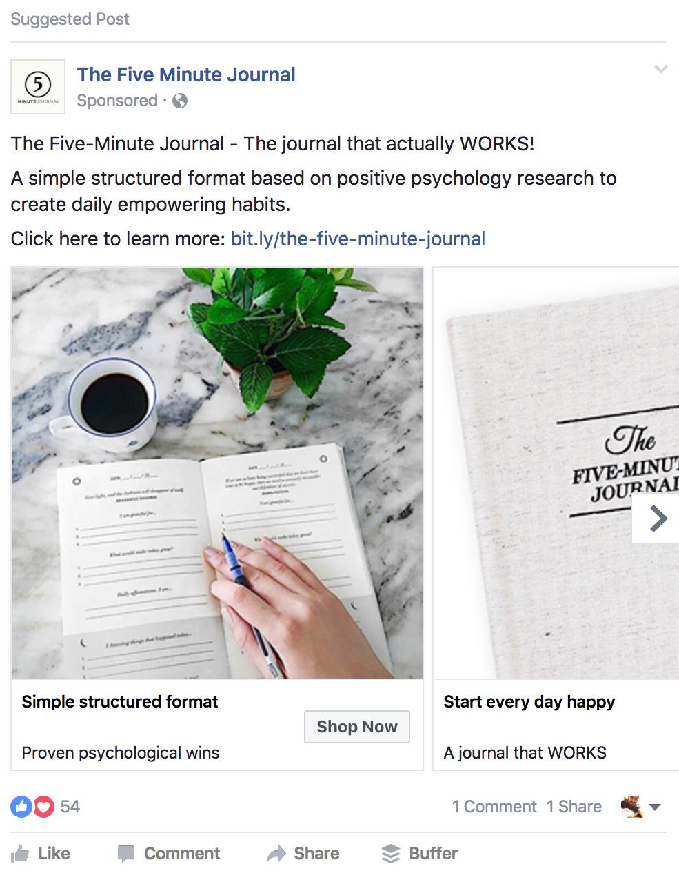 five minute journal interest