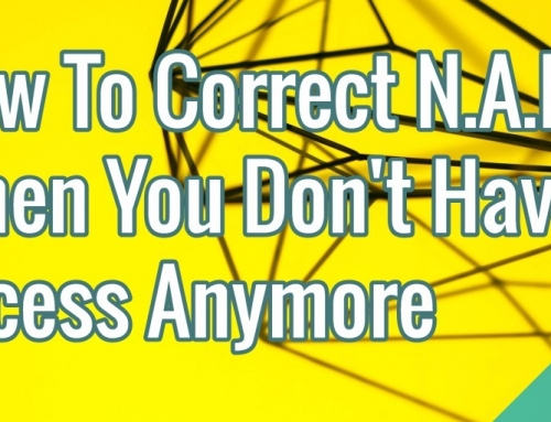How To Correct N.A.P. When You Don't Have Access Anymore